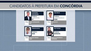 Eleições 2020: Quatro candidatos concorrem à prefeitura de Concórdia - Eleições 2020: Quatro candidatos concorrem à prefeitura de Concórdia