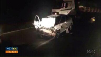 Casal morre em acidente em Mandaguari - Criança que estava junto foi internada em estado grave.