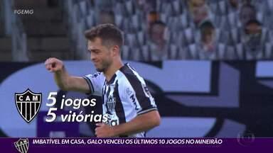 O Atlético não recebe uma visita da derrota há dez jogos - Imbatível em casa, o Atlético venceu os últimos 10 jogos no Mineirão