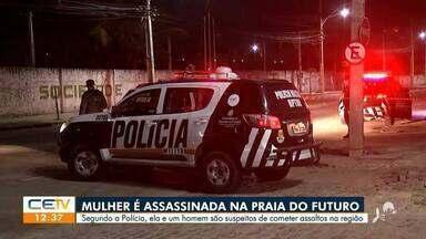 Mulher assassinada na Praia do Futuro é suspeita de cometer assaltos - Saiba mais em g1.com.br/ce
