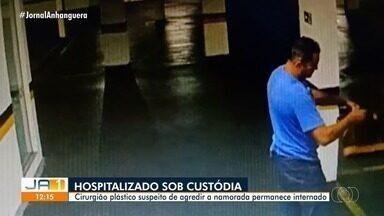Segue internado médico suspeito de atirar contra a namorada no estacionamento de hospital - Ele está internado sob custódia da polícia.