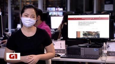 Heloise Hamada traz os destaques do G1 nesta terça-feira - Veja quais são as principais notícias no Oeste Paulista.