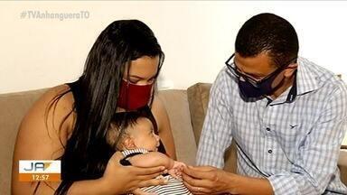 Família tenta arrecadar mais de R$ 10 milhões para comprar remédio para filho com AME - Família tenta arrecadar mais de R$ 10 milhões para comprar remédio para filho com AME
