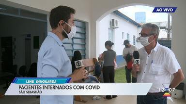 Pacientes internados com COVID-19 em São Sebastião - Veja o número de ocupação em UTI e enfermaria.