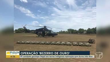 Operação 'Bezerro de Ouro' destrói 20 máquinas usadas em área de garimpo ilegal no PA - Confira.