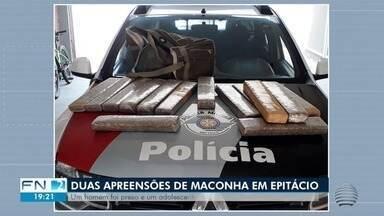 PM apreende quase 40 quilos de maconha em Presidente Epitácio - Um homem foi preso e um adolescente apreendido.