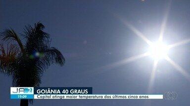 Goiânia tem o dia mais quente dos últimos cinco anos, ultrapassando 40°C - Goianos sofreram com a temperatura alta.