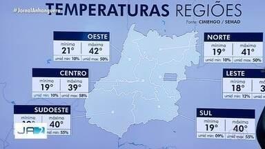 Confira a previsão do tempo em Goiás - Temperatura deve ultrapassar os 40°C em várias regiões do estado.