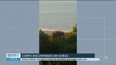 Homem é encontrado morto em praia de Ilhéus, sul da Bahia - Polícia diz que trata-se de um suspeito que correu para o mar depois de troca de tiros com agentes.