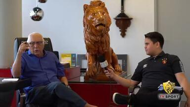 Repórter mirim entrevista presidente do Sport em ação do clube - Confira alguns trechos da conversa de João Arthur, de 12 anos, com o mandatário do Leão, Milton Bivar