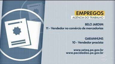 Confira as vagas de emprego disponíveis no Recife e no interior - Em todo o estado, são mais de 300 oportunidades com carteira assinada.