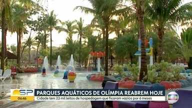 Parques aquáticos em Olímpia reabrem hoje, 1º de outubro - Cidade tem 23 mil leitos de hospedagem que ficaram vazios por seis meses.
