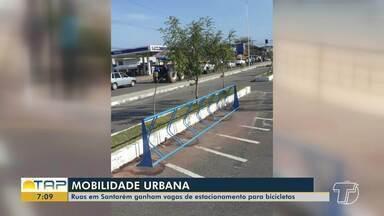 Ruas de Santarém ganham vagas de estacionamento para bicicletas - Bicicletários começaram a ser instalados na segunda-feira, 28.