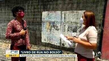 'Livro de Rua no Bolso' reúne imagens de intervenções literárias em Fortaleza - Saiba mais em g1.com.br/ce