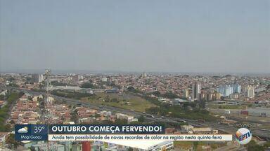 Campinas pode chegar a 37ºC nesta quinta-feira; confira a previsão completa - Região continua com altas temperaturas e Piracicaba (SP) pode atingir a marca de 38ºC.