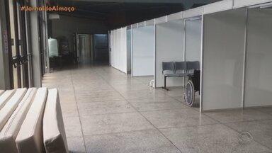 Ambulatórios de campanha de cidades da Serra são desmontados - Estruturas foram construídos para receber pacientes com coronavírus.