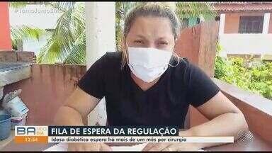 Família de idosa com diabetes luta para conseguir cirurgia pelo Sus - A paciente espera por uma vaga hospitalar há um mês.