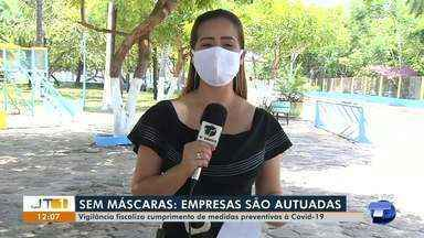 Vigilância Sanitária faz fiscalizações em empresas para verificar uso de máscaras - Órgão já fez várias autuações em Santarém.