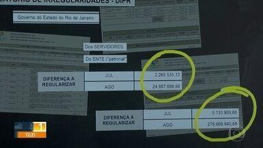 Estado tem dívidas de mais de R$ 300 milhões com a previdência - Governo diz que já regularizou a situação, mas certificado de regularidade previdenciária do Rio está vencido.