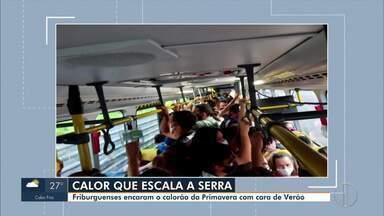 Passageiros reclamam de aglomeração nos ônibus em Nova Friburgo, no RJ - Transportes públicos têm ficado lotados e preocupam os moradores em relação à Covid-19.
