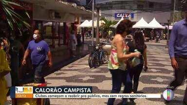 Clubes começam a reabrir para o público em Campos, RJ, mas com restrições - Este é o primeiro fim de semana em que o município está na fase verde.