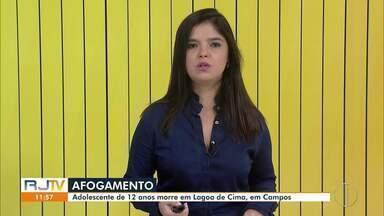 Adolescente de 12 anos morre afogado em Lagoa de Cima, em Campos, no RJ - Jovem chegou a receber atendimento do Corpo de Bombeiros, mas acabou não resistindo.
