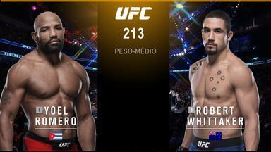 UFC 213: Romero x Whittaker - Yoel Romero x Robert Whittaker - Luta entre Yoel Romero x Robert Whittaker, válida pelo UFC 213: Romero x Whittaker, em 08/07/2017.