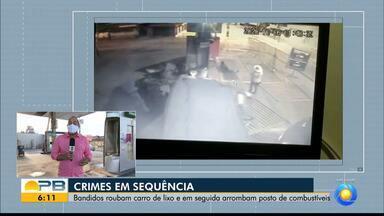 Suspeitos roubam caminhão do lixo e arrombam posto em seguida, em João Pessoa - Sequência de crimes aconteceu na madrugada dessa terça-feira (6)