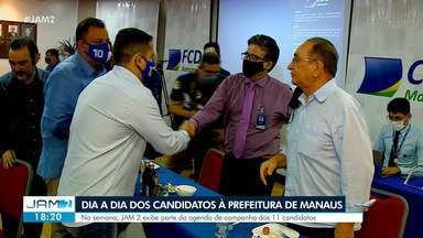 Confira o dia a dia dos candidatos à Prefeitura de Manaus - Na semana, JAM 2 exibe parte da agenda de campanha dos 11 candidatos