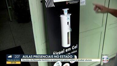 Escolas do interior do estado se preparam para a retomada das aulas presenciais - Alunos do ensino médio das escolas estaduais de São Carlos retornam em 32 das 34 unidades da cidade.
