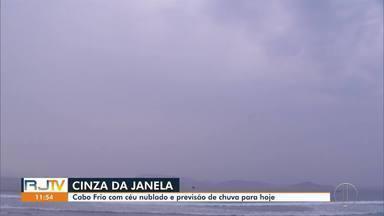 Cabo Frio, RJ, tem previsão de chuva para esta quinta - Céu está nublado.
