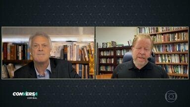 """Programa de 08/10/2020 - Pedro Bial conversa com o linguista Daniel Everett sobre seus estudos que resultaram no livro """"Linguagem: a história da maior invenção da humanidade"""""""