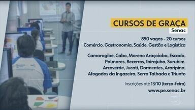 Senac inscreve para 850 vagas em 20 cursos - Interessados têm até a terça-feira (13) para fazer cadastro.