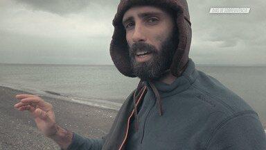 O Estreito de Magalhães - Diogo Guerreiro e Levi Lenz embarcam para Punta Arenas, na margem do Estreito de Magalhães. No Oceano Pacífico, iniciam sua jornada de windsurfe até o Oceano Atlântico, totalizando 300km de distância.