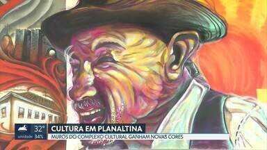 Centro cultural de Planaltina ganha novas cores - Artistas foram convidados para retratar cenas que remetem às tradições da região.