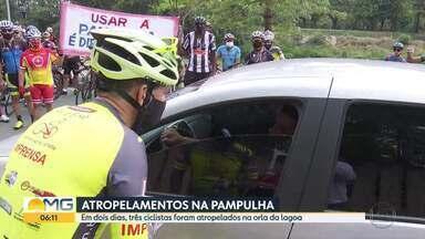 Ciclistas pedem mais cuidado na Orla da Lagoa da Pampulha - Acidentes envolvendo ciclistas geraram manifestação.