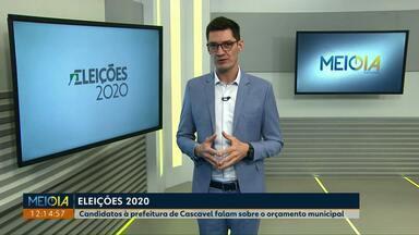 Candidatos a prefeito falam sobre propostas para Cascavel - Eles responderam sobre o que pretendem fazer com o orçamento do município, se eleitos.