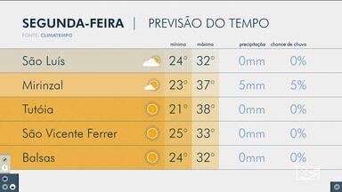 Veja a previsão do tempo para esta segunda (12) no Maranhão - Segundo a meteorologia, o tempo permanece seco em boa parte do estado.