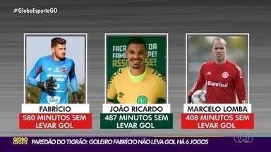 Com paredão no gol, Vila Nova recebe o Manaus no OBA - Goleiro Fabrício não levou gol nos últimos seis jogos e afirma que é um dos melhores momentos da carreira.