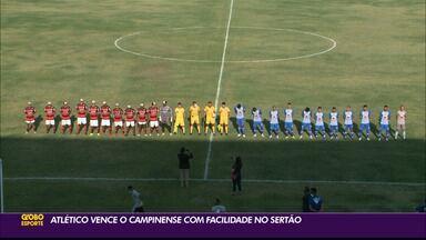 Atlético de Cajazeiras vence fácil o Campinense no Perpetão pela Série D - Atlético de Cajazeiras vence fácil o Campinense no Perpetão pela Série D