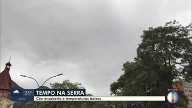 RJ1 mostra como está o tempo nas cidades do interior do estado - Nossas equipes conferem se está calor ou fazendo frio em Nova Friburgo, Campos e Cabo Frio.