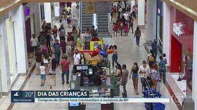Comércio de Belo Horizonte se anima com as vendas no feriado - O Dia das Crianças gerou esperança de recuperar os prejuízos dos meses fechados durante a pandemia.