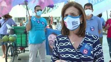 Martha Rocha (PDT) faz campanha na Praça Mauá - A candidata fez uma caminhada que saiu do Museu do Amanhã.