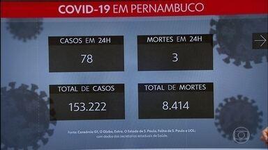 Após sete meses de pandemia, Pernambuco totaliza 153.222 casos e 8.414 mortes - Nas últimas 24 horas, estado registrou mais 78 infectados e três óbitos.