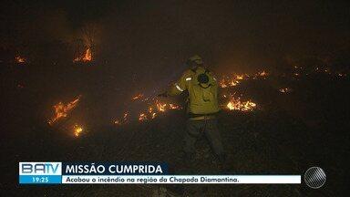 Incêndio florestal na Chapada Diamantina é extinto - Veja a situação de outros incêndios na Bahia.