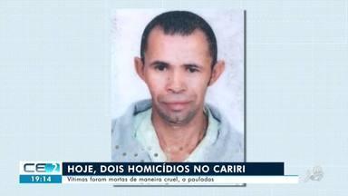 Dois homens são mortos a pauladas no Cariri - Confira mais notícias em g1.globo.com/ce
