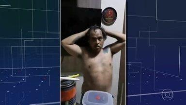 Polícia do Paraguai prende um dos criminosos mais procurados do Brasil - Contrabandista tinha se escondido em uma compartimento atrás da churrasqueira na casa dele, no Paraguai.