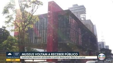 Museus na cidade de SP reabrem a partir desta terça-feira - Instituições seguem com programação à distância, mas voltam a receber público após capital paulista avançar à fase verde do plano de flexibilização econômica.