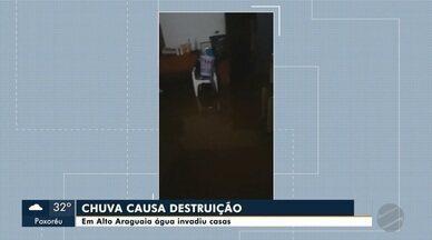 Chuva causou destruição em Alto Araguaia - Chuva causou destruição em Alto Araguaia