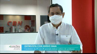 Candidato à Prefeitura de João Pessoa, Anísio Maia participa de entrevista na rádio CBN - Anísio Maia foi o segundo candidato entrevistado pela rádio CBN.